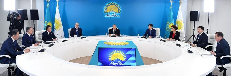 Состоялось заседание бюро политического совета партии Nur Otan