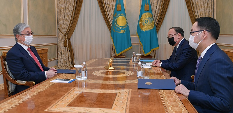 Касым-Жомарт Токаев принял вновь назначенного посла в США Ержана Ашикбаева