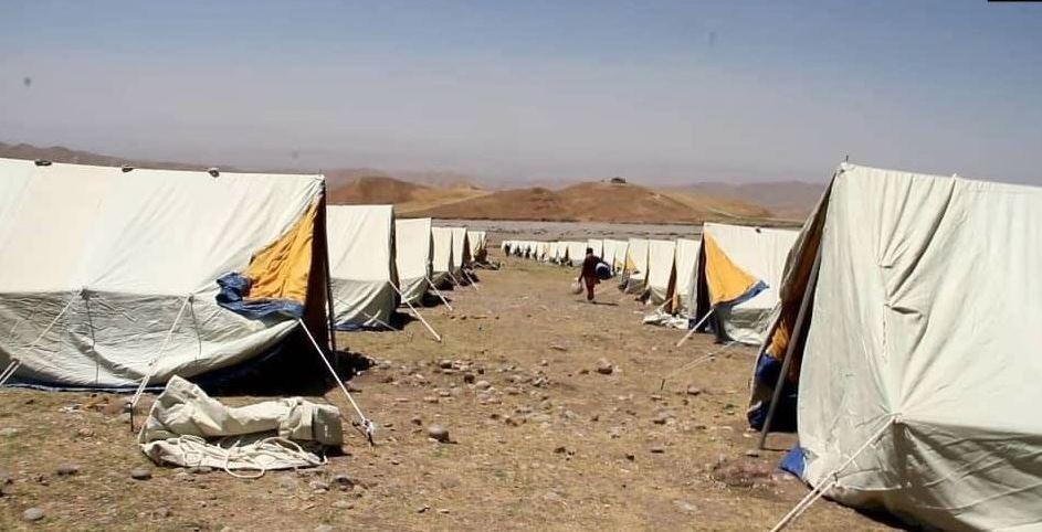 В Таджикистане на приграничье приступили к строительству лагеря для афганских беженцев