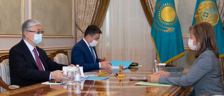 Касым-Жомарту Токаеву доложили об итогах развития финансового рынка