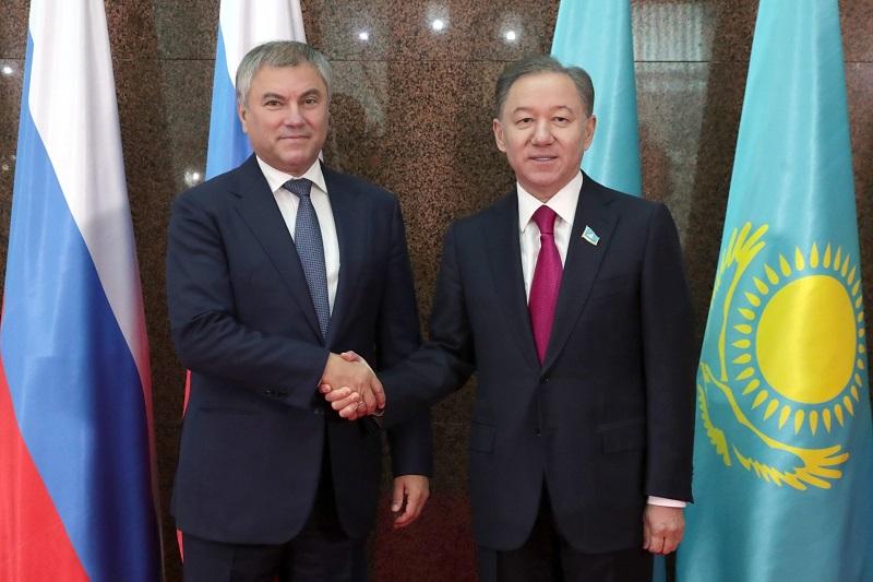 Нигматулин и Володин отмечают высокий уровень казахстанско-российского межпарламентского сотрудничества