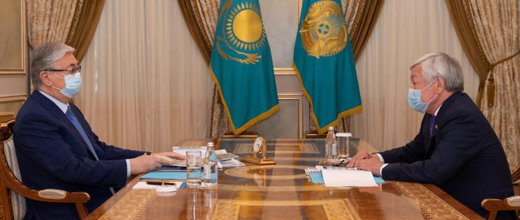 Бердибек Сапарбаев рассказал президенту о ситуации в Кордайском районе