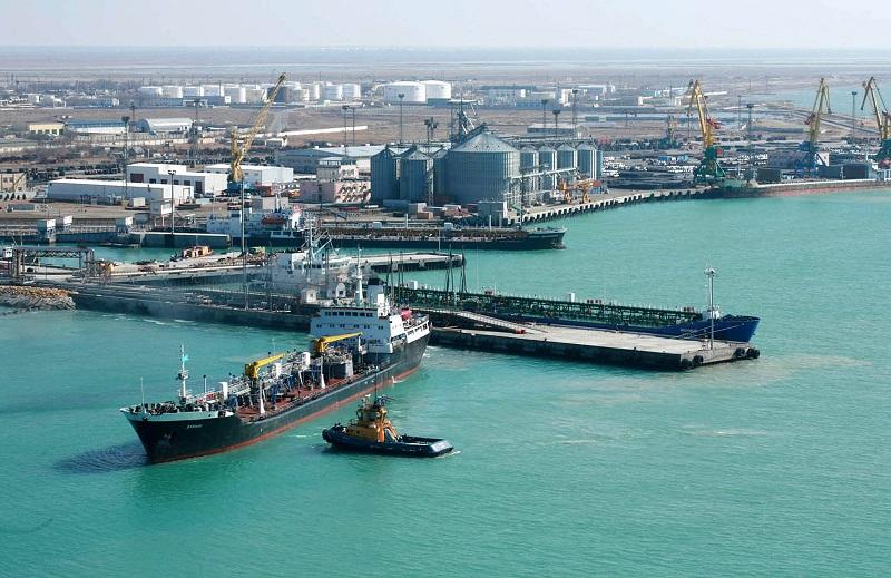 Грузооборот в январе-марте морпорта Курык сократился в 1,9 раза, порта Актау – на 5%