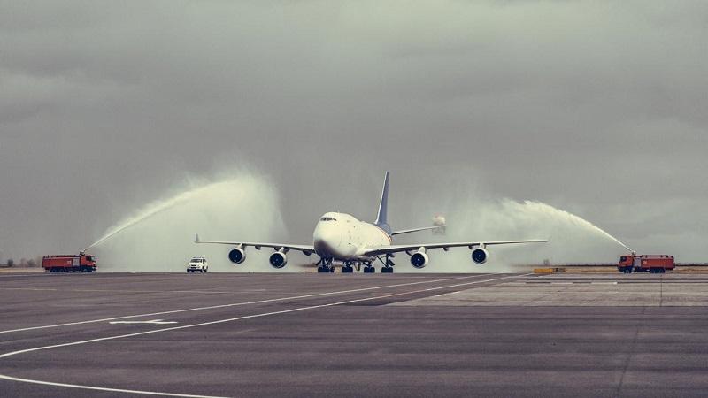 В городе Нур-Султане приземлился Boeing 747-400F