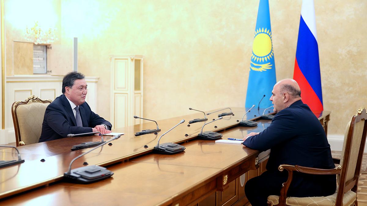 Аскар Мамин провел переговоры  с председателем правительства РФ Мишустиным