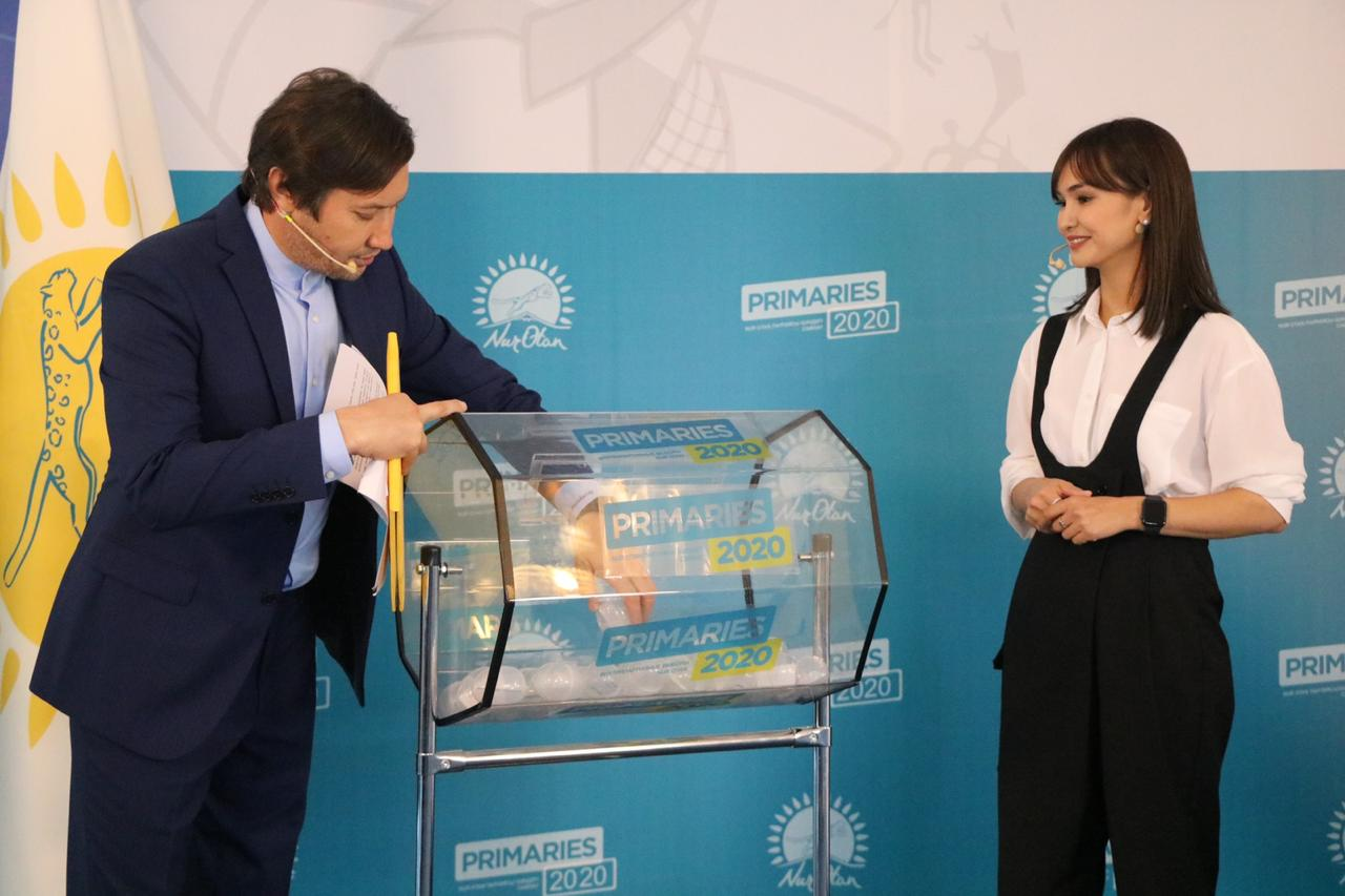 В новом формате проведена жеребьевка на дебаты участников праймериз в Алматы