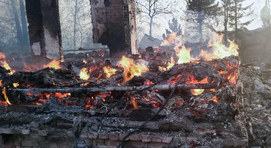 Комитет лесного хозяйства проведет служебное расследование по факту пожара в Риддере