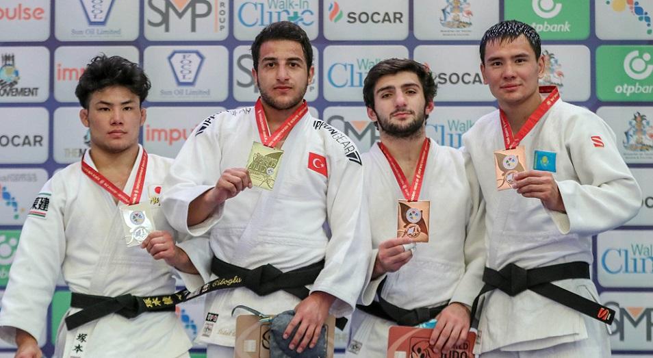 Первая награда появилась в копилке Казахстана на ЧМ по дзюдо среди молодёжи