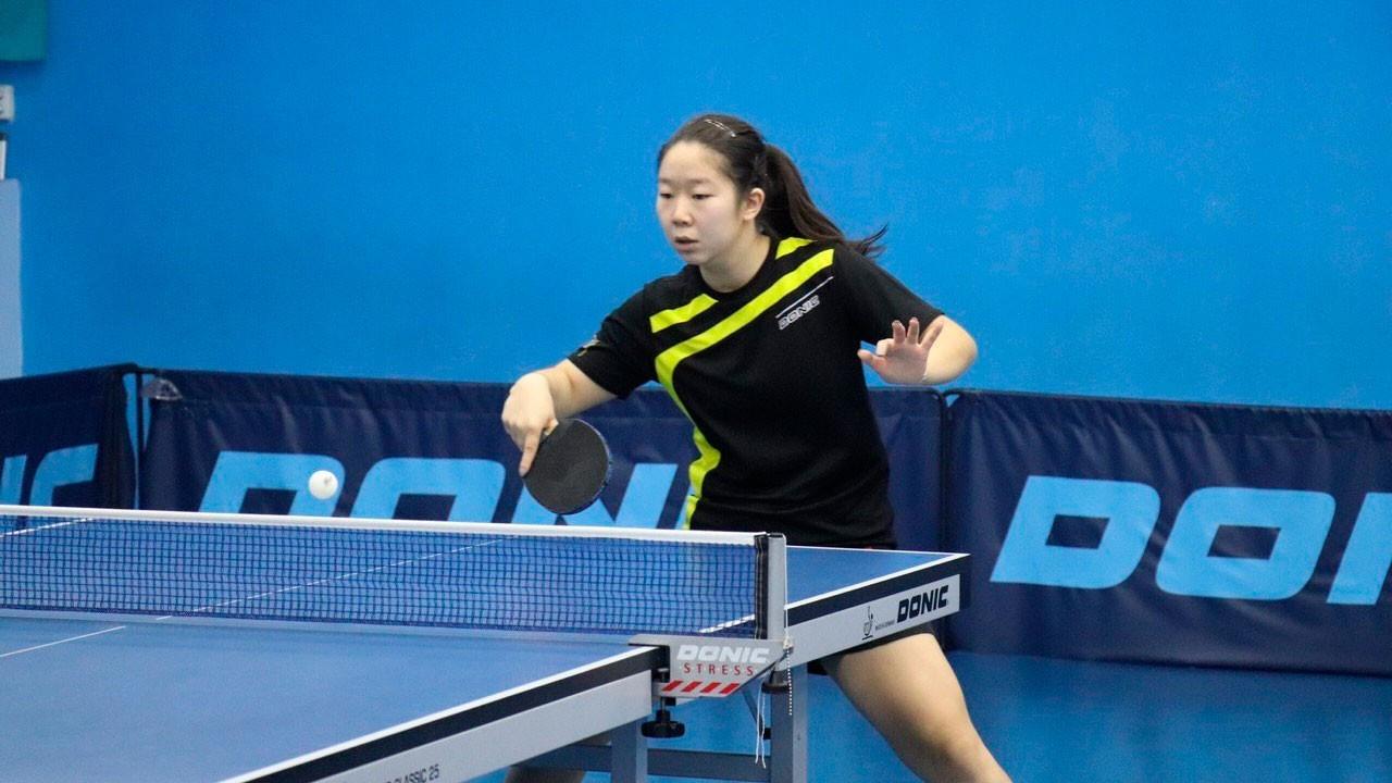 Зауреш Акашева выступила в первом туре международного турнира по настольному теннису