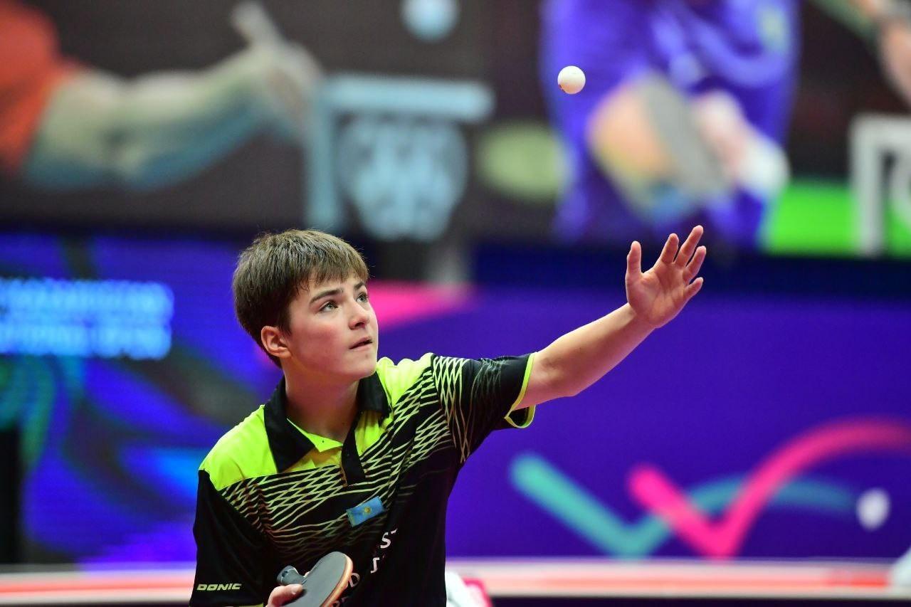 Казахстанец остановился в шаге от полуфинала крупного турнира по настольному теннису в Польше