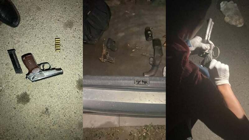 Арсенал оружия изъяли в Алматы