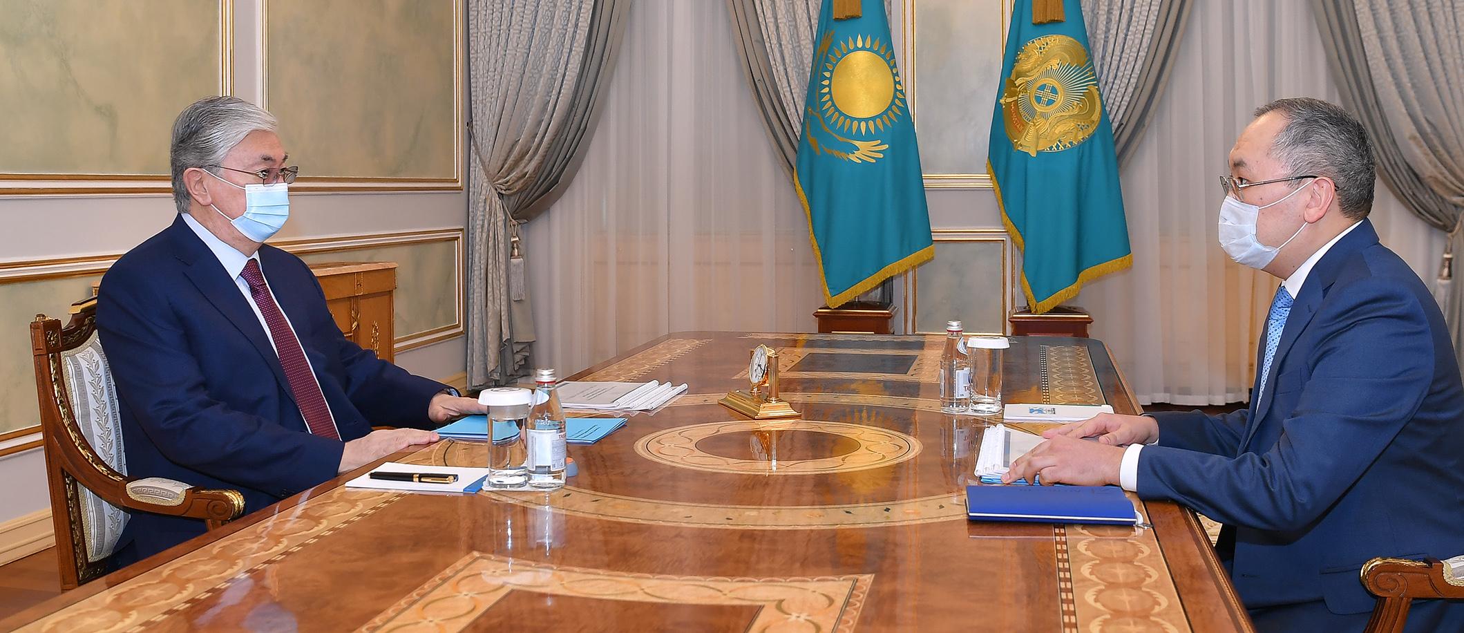 Касым-Жомарт Токаев принял председателя нового агентства по финмониторингу
