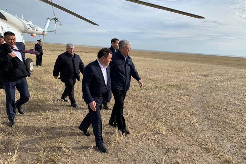 Касым-Жомарт Токаев с рабочей поездкой прибыл в Акмолинскую область