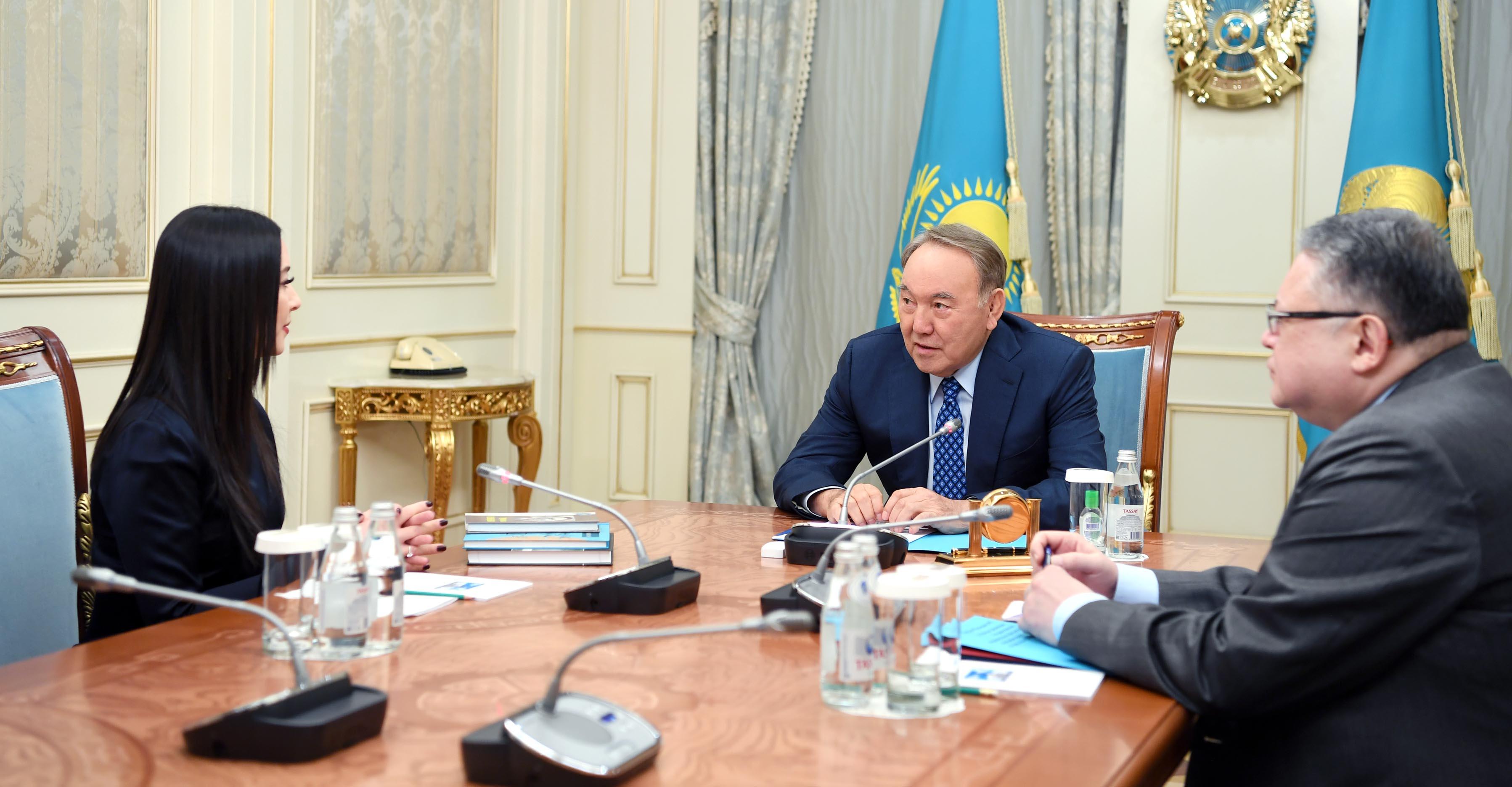 Президент РК встретился с Динзухрой Тлендиевой
