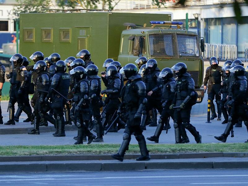 В Минске задерживают участников протестных акций