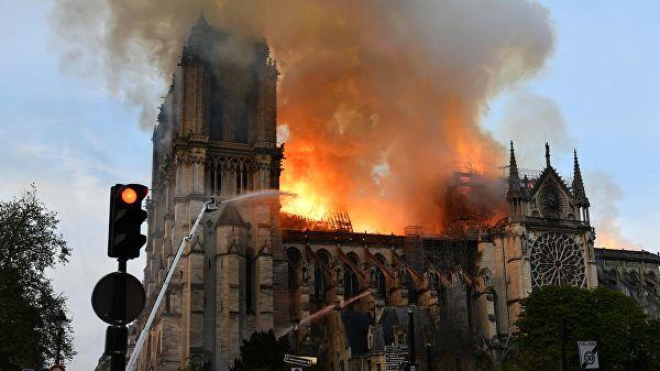Пожар в соборе Парижской Богоматери локализовали   , пожар, Собор Парижской Богоматери