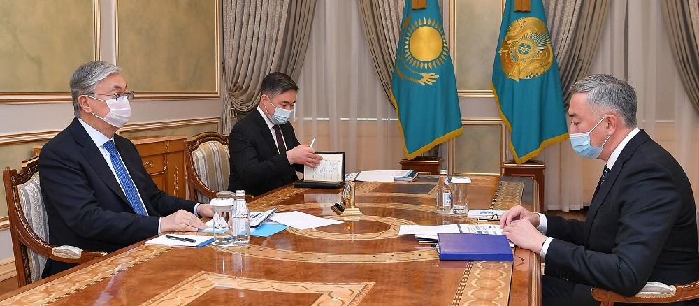 Касым-Жомарт Токаев принял председателя Агентства по защите и развитию конкуренции
