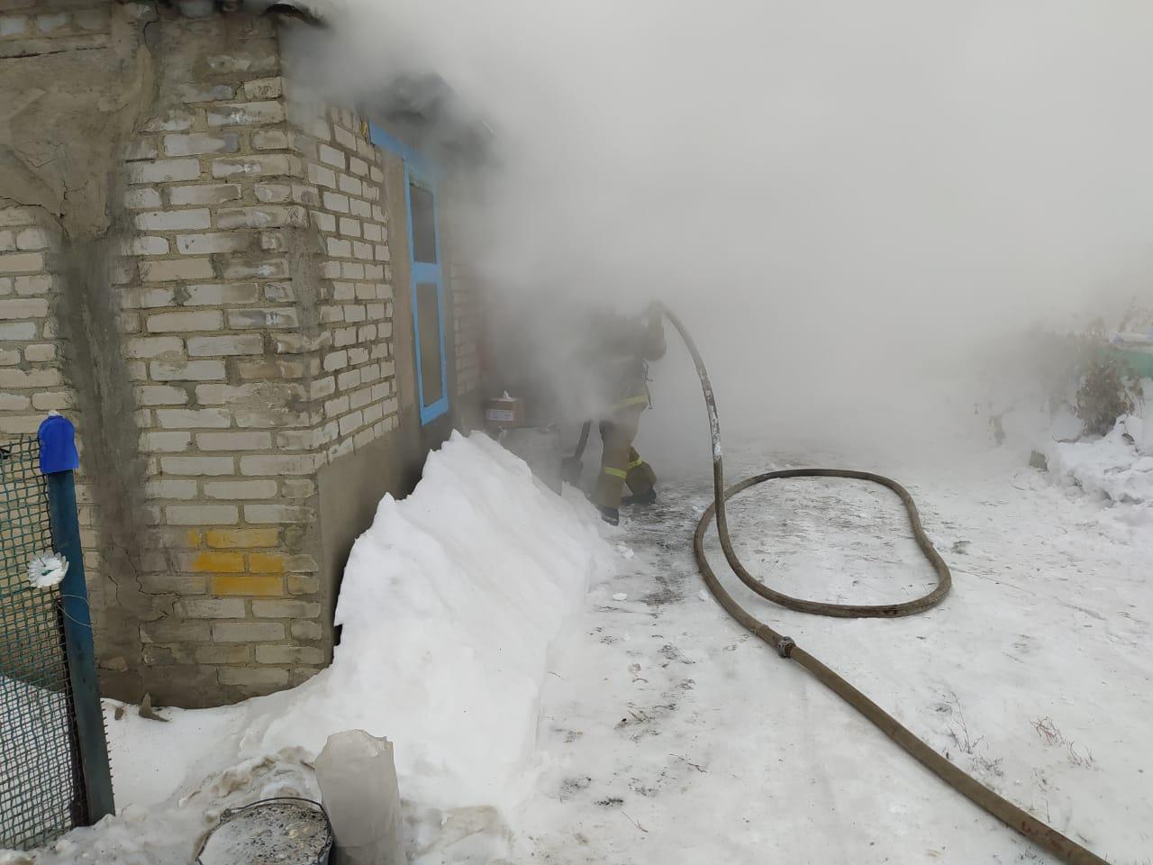 Пожар в селе Карабалык: погиб мужчина