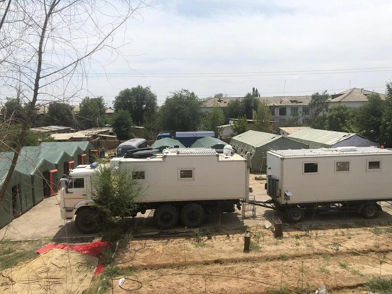 Столичные строители ведут восстановительные работы в Арыси