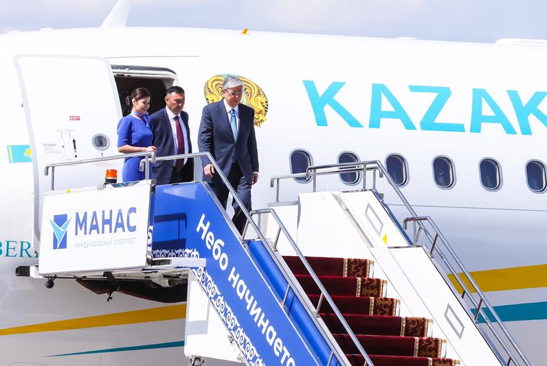 Касым-Жомарт Токаев прибыл в Бишкек на саммит ШОС   ,  Касым-Жомарт Токаев, Президент РК , Бишкек, ШОС