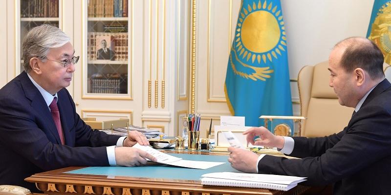 Президент Казахстана проинформирован о мерах  обеспечения правопорядка в стране в условиях чрезвычайного положения
