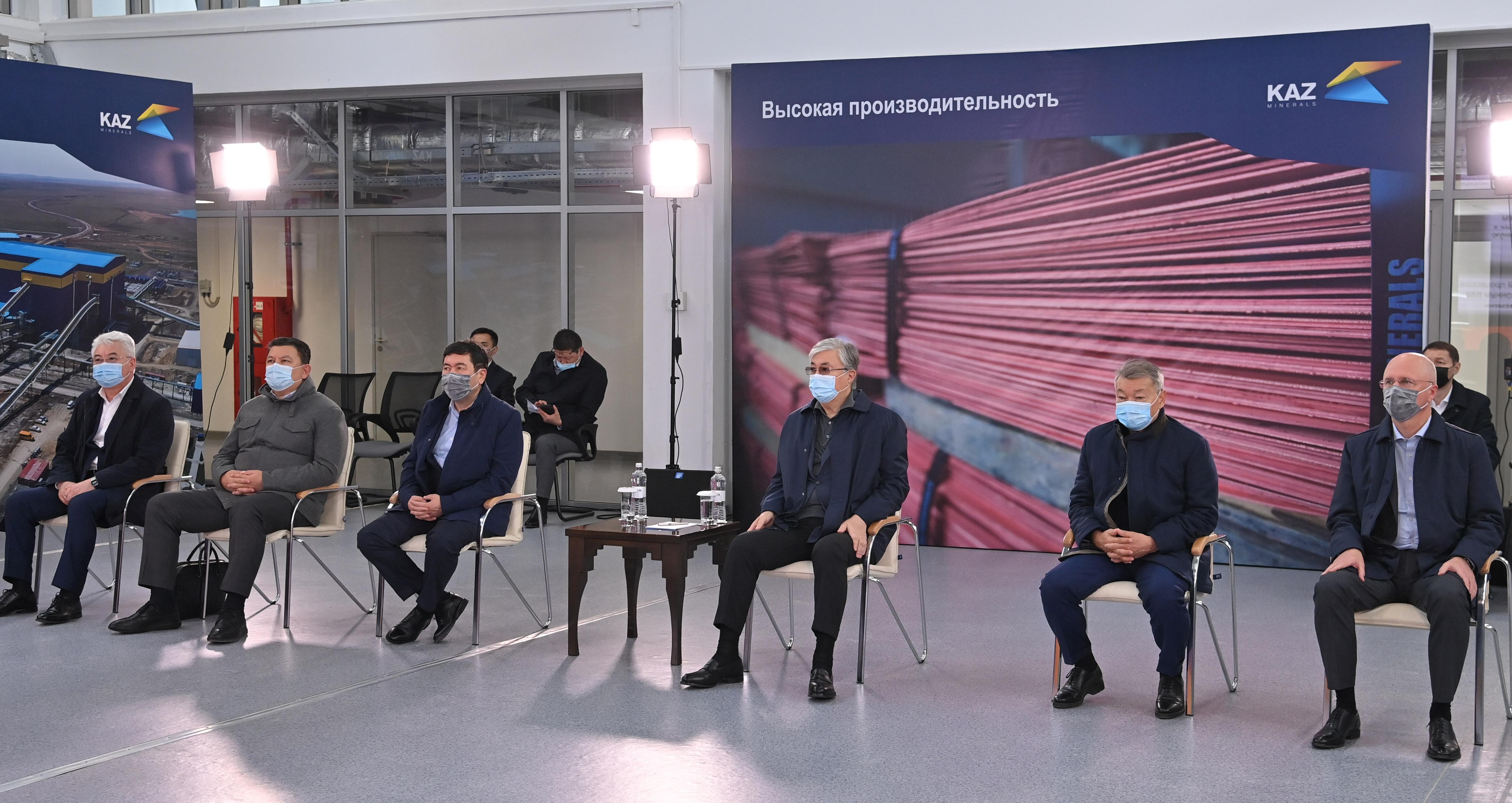 Касым-Жомарт Токаев дал официальный старт производству на новой сульфидной фабрике