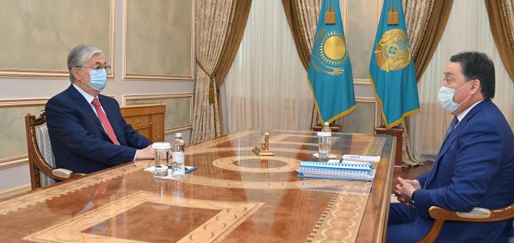 Премьер-министр доложил Касым-Жомарту Токаеву, когда будет подготовлен общенациональный план