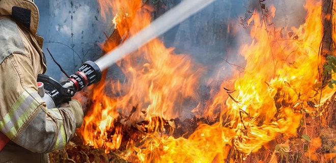 Степной пожар площадью 1000 га тушат в Павлодарской области