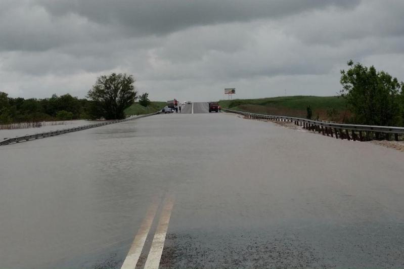 В СКО подтопило участок автодороги Челябинск – Новосибирск