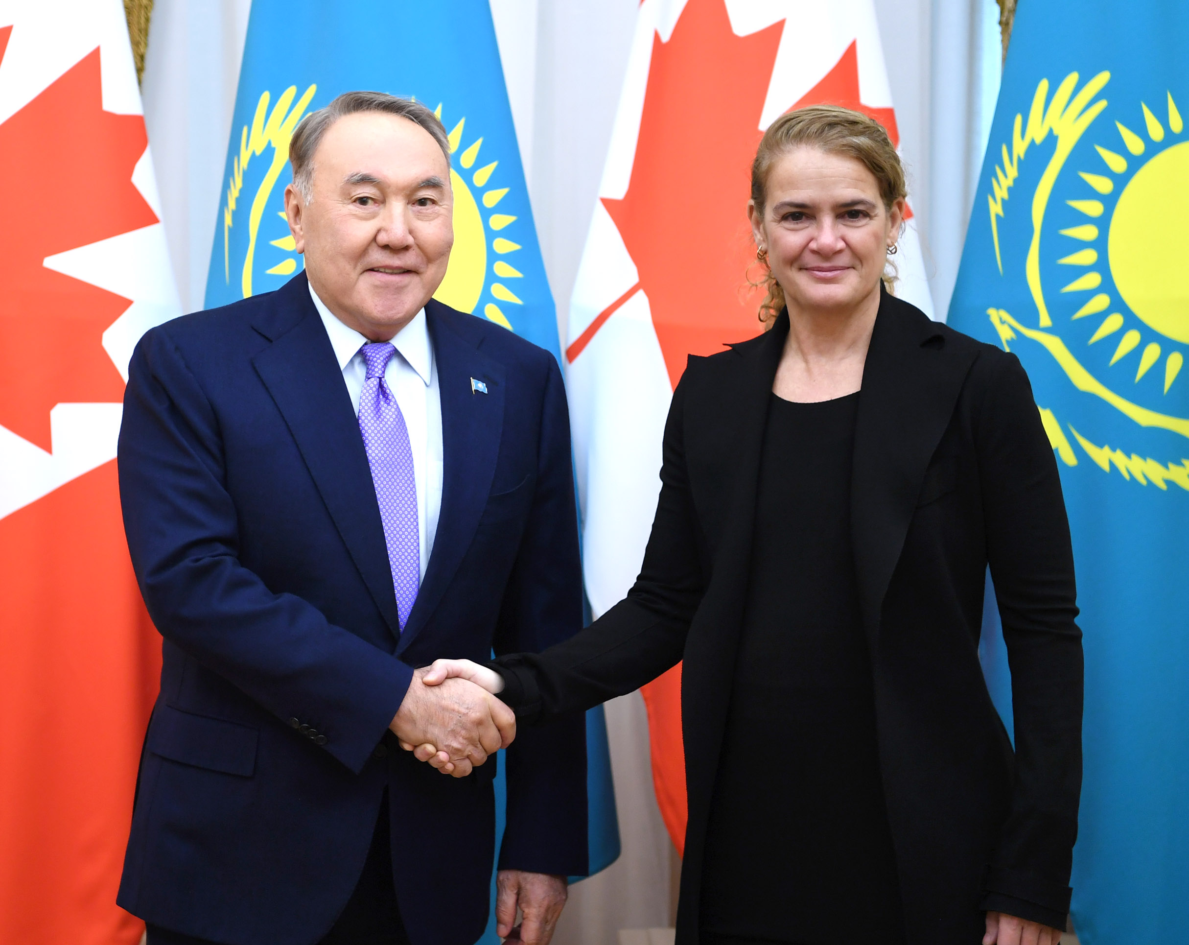 Назарбаев провёл встречу с генерал-губернатором Канады Жюли Пайетт