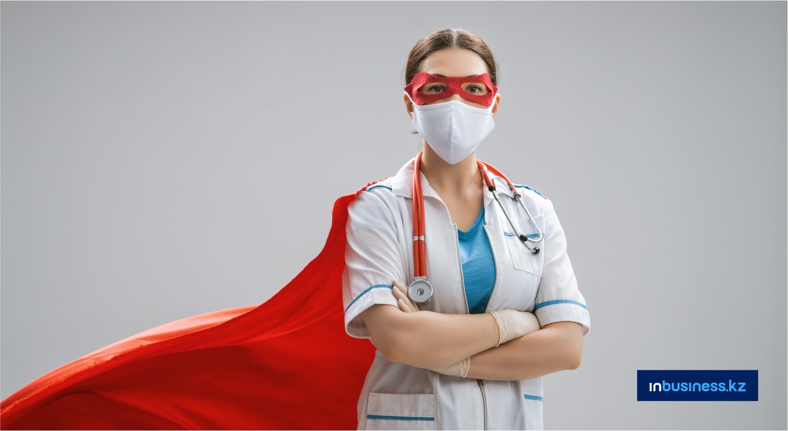 Более 3300 медиков РК, заразившихся COVID-19 и пневмонией, получили по 2 млн тенге