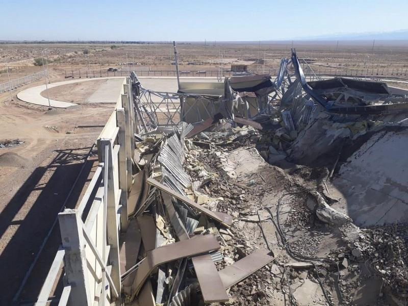Кровля строящегося спорткомплекса обрушилась в селе Алматинской области
