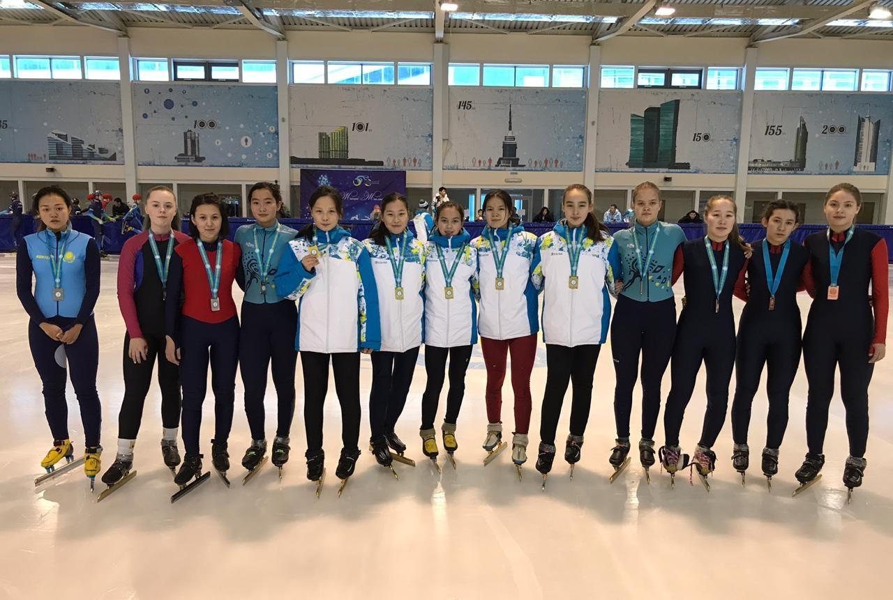 В Астане завершился молодёжный чемпионат Казахстана по шорт-треку