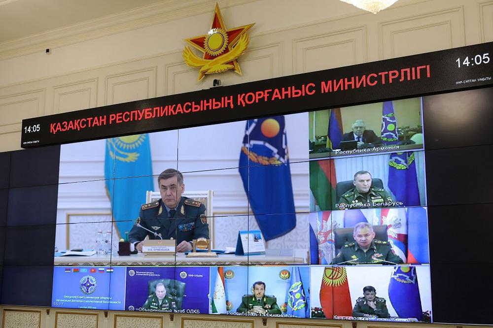 Заседание Совета министров обороны ОДКБ прошло в онлайн формате
