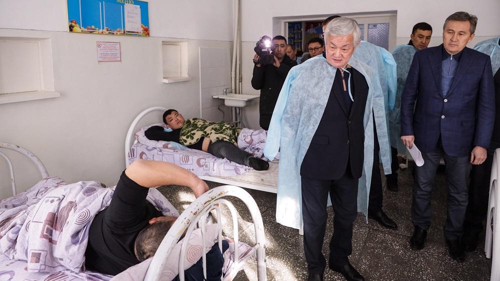 В результате беспорядков в Кордайском районе к медикам обратились 127 человек, 84 после осмотра отпущены