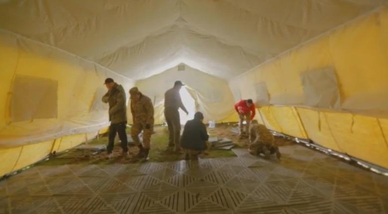 В 30 км от Алматы развернут мобильный полевой госпиталь для борьбы с Covid-19