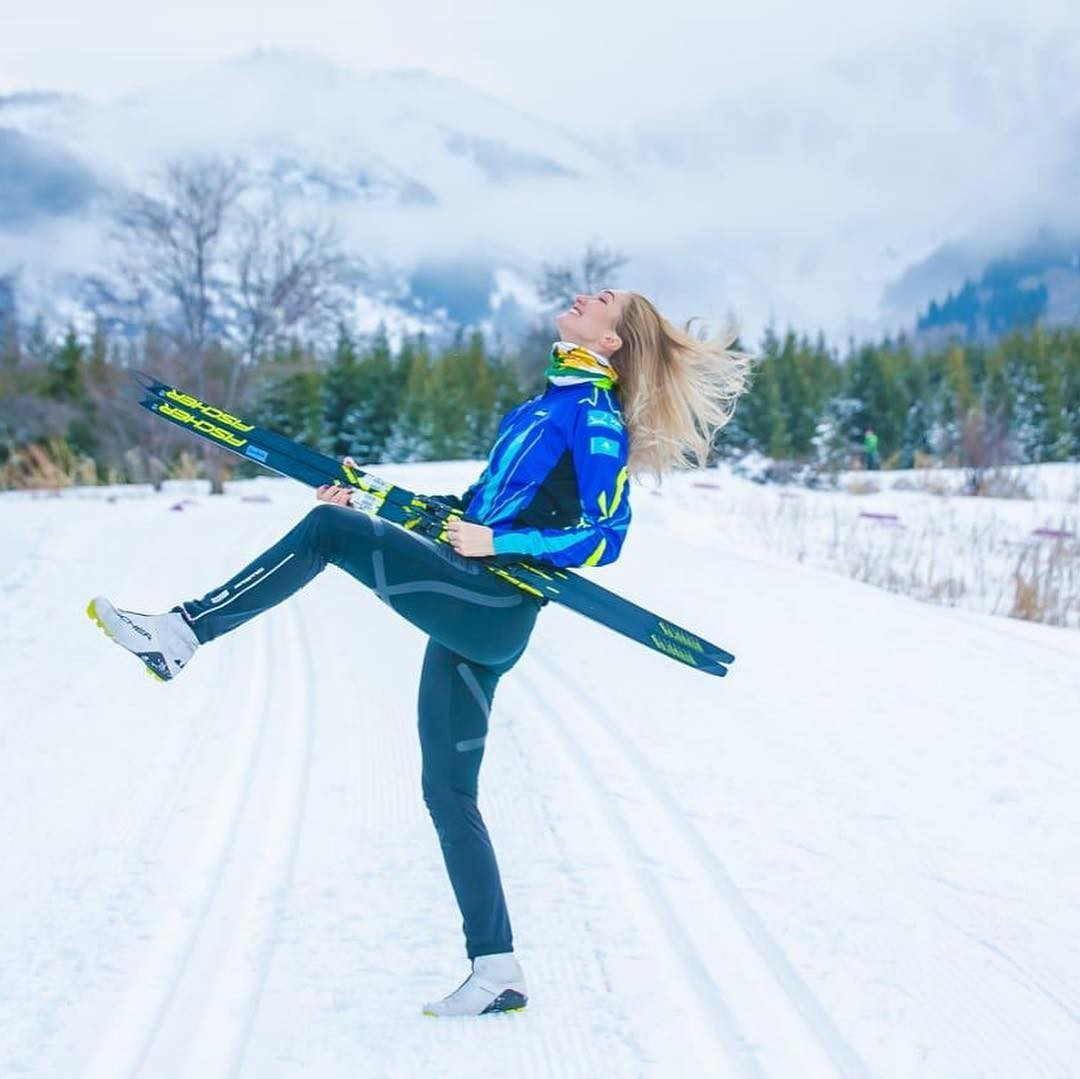 Ангелина Шурыга завоевала золото на Кубке Казахстана по лыжным гонкам