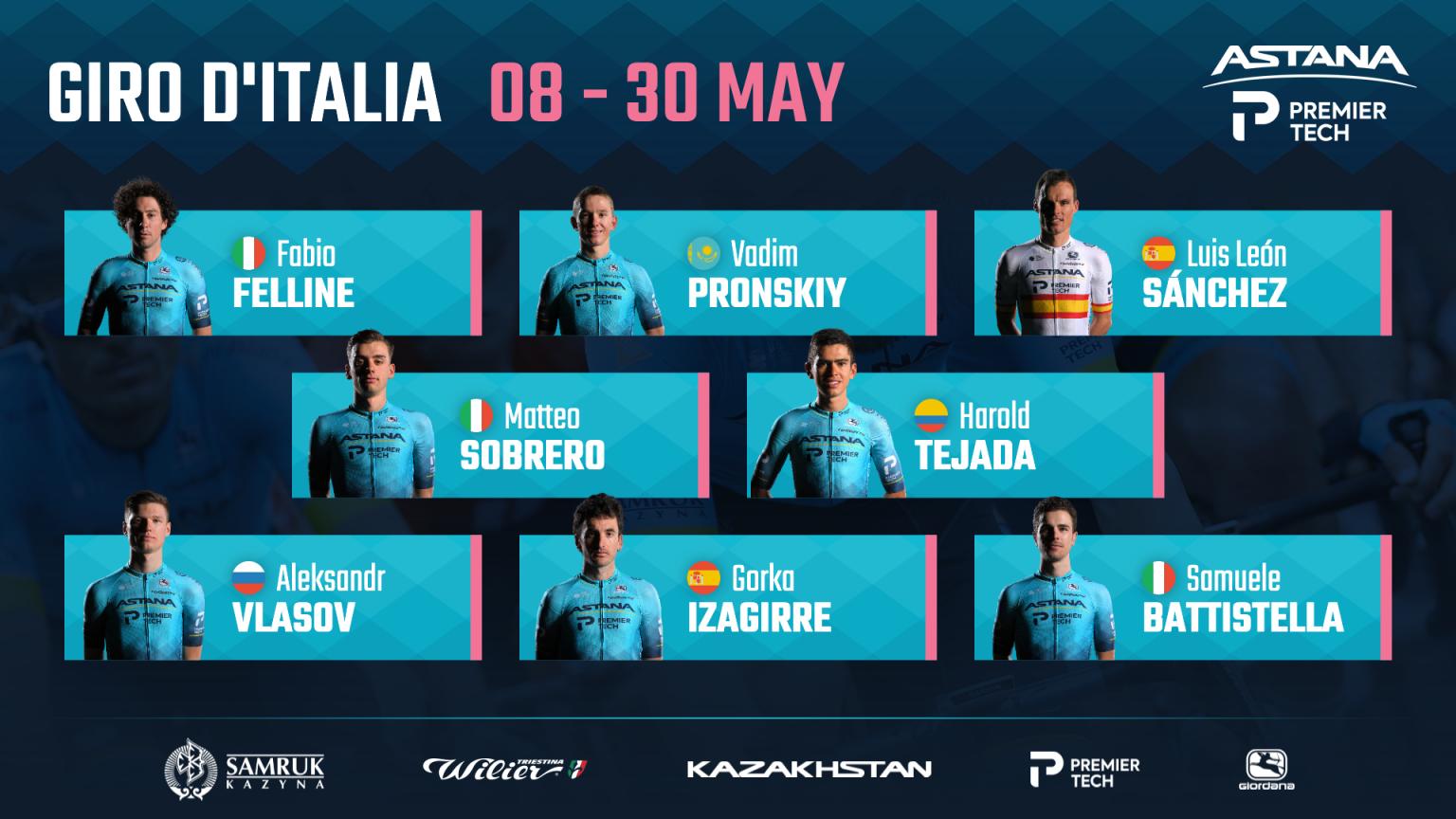 Astana – Premier Tech Джиро д'Италияда жеңіске жетуді көздейді