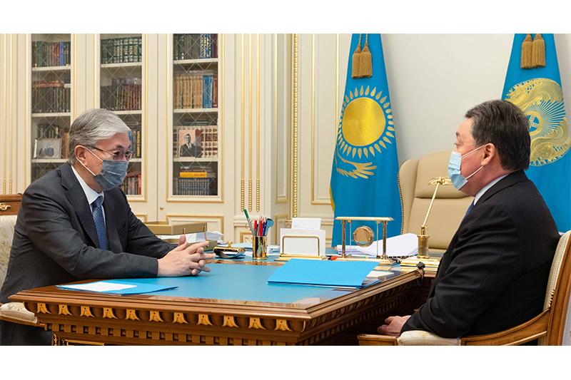 Касым-Жомарт Токаев принял премьер-министра Аскара Мамина