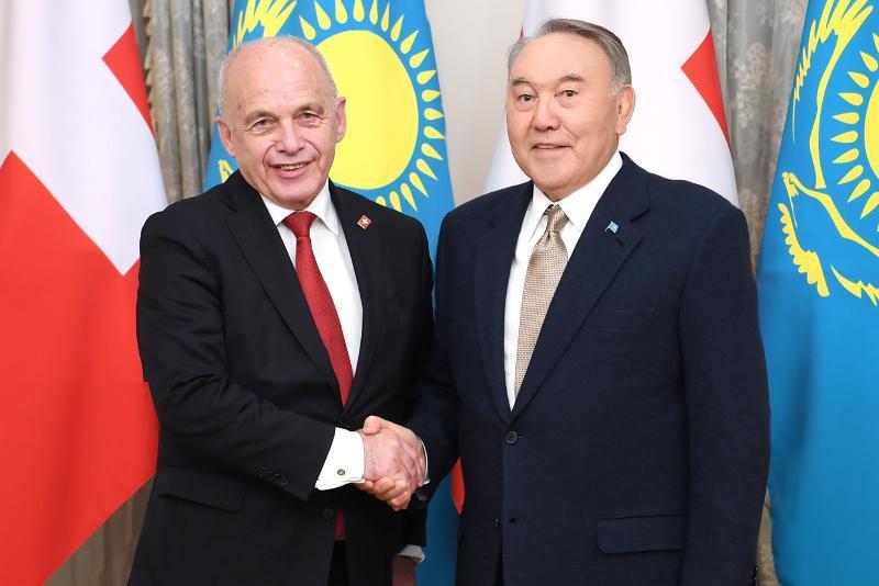 Елбасы Швейцария Президенті Ули Маурермен кездесті