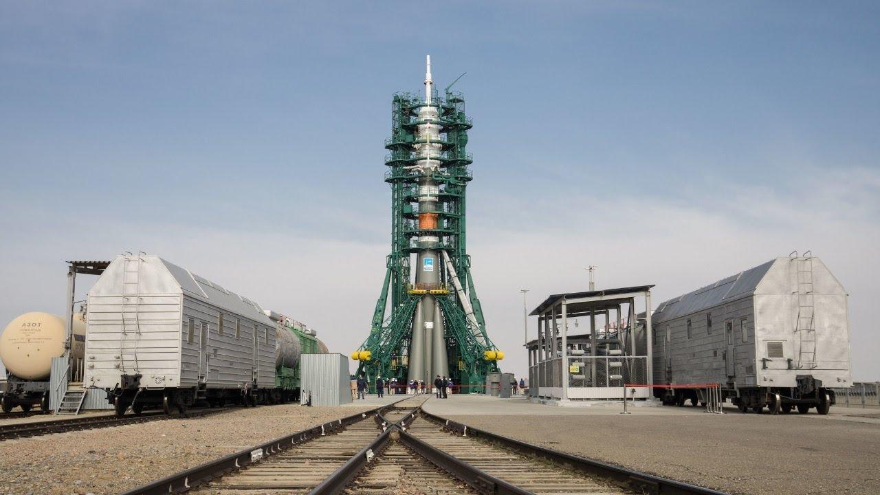 """На Байконуре готовят стартовый комплекс к пуску ракеты-носителя с кораблем """"Союз МС-17"""""""