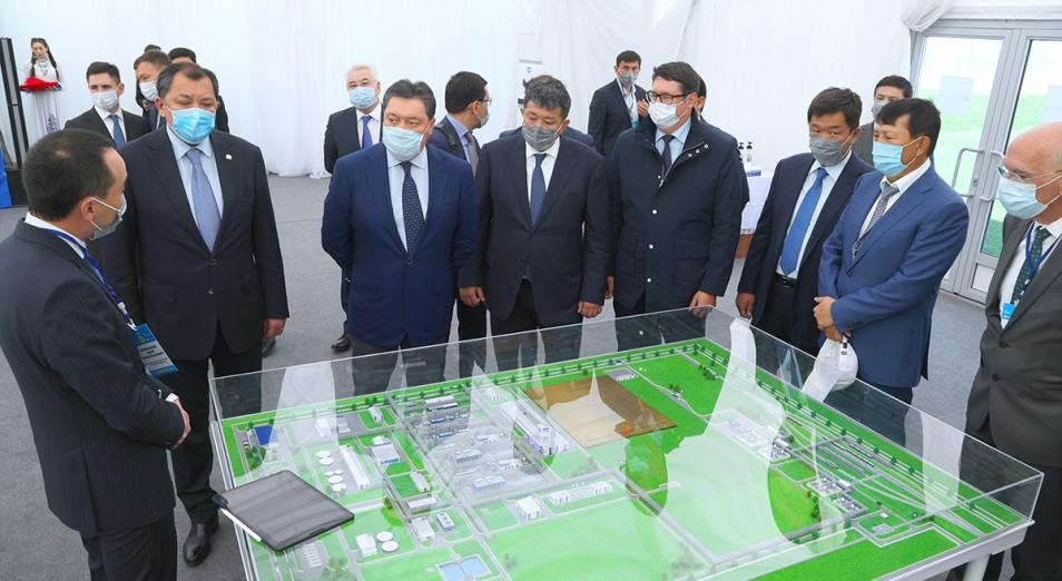 Аскар Мамин дал старт строительству газоперерабатывающего завода на месторождении Кашаган