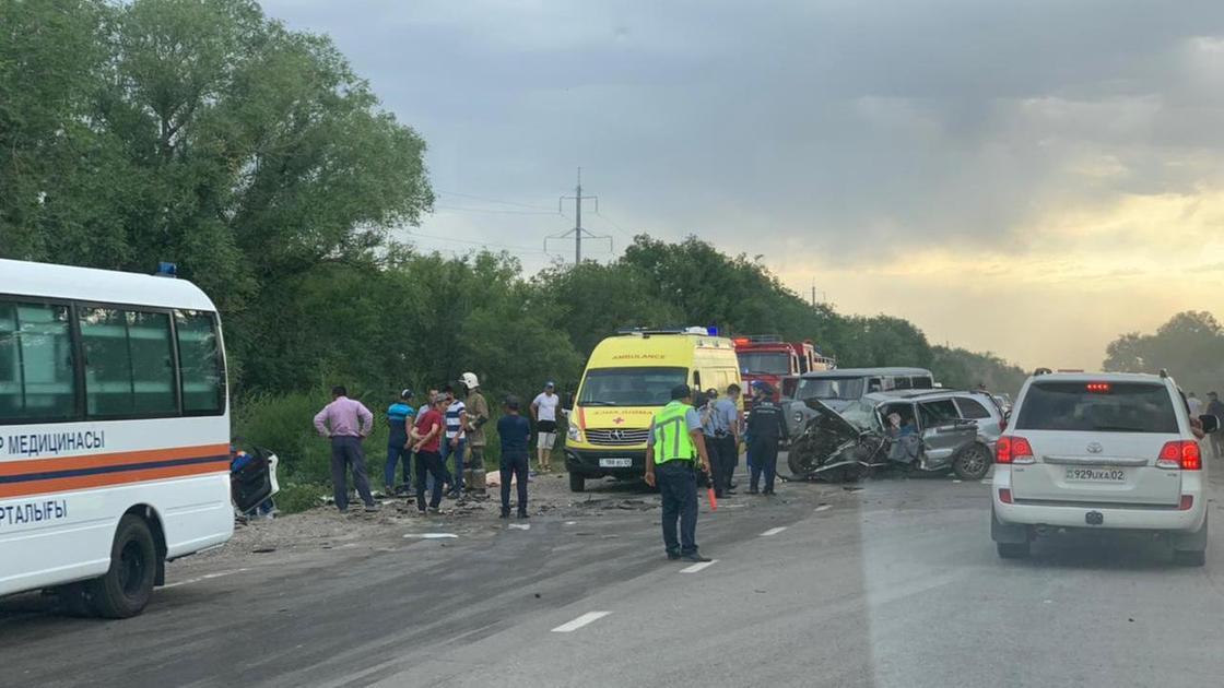 Семь человек, в том числе четверо детей, стали жертвами автокатастрофы в Алматинской области