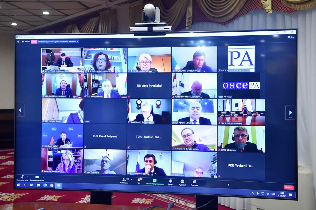Казахстанские сенаторы приняли участие в заседании Парламентской Ассамблеи ОБСЕ