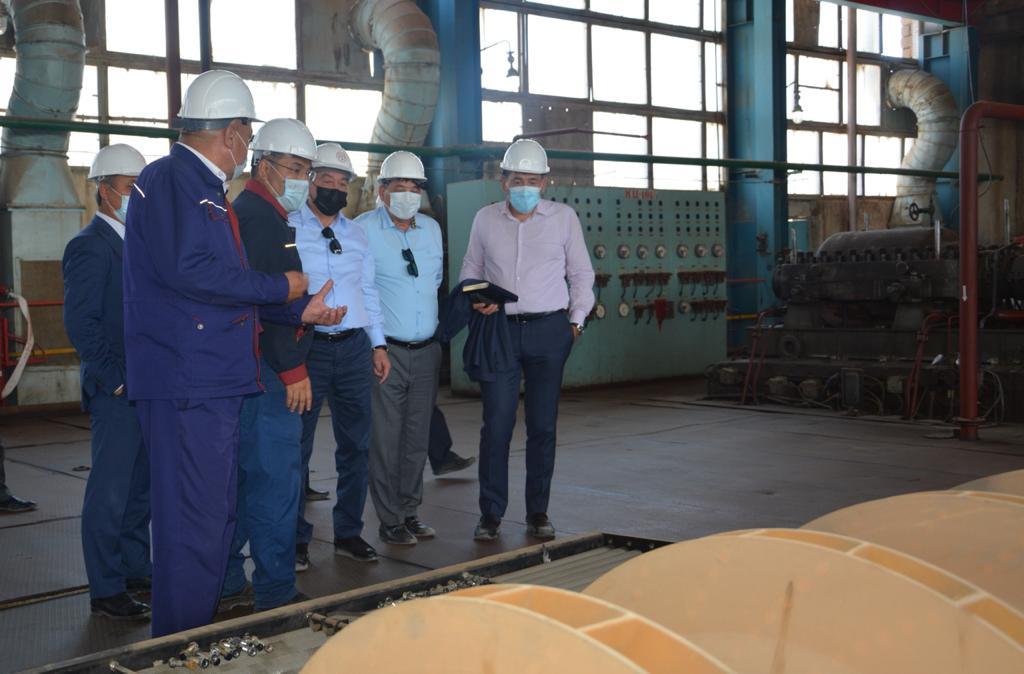 Глава КМГ Алик Айдарбаев ознакомился с ходом восстановительных работ на КазГПЗ