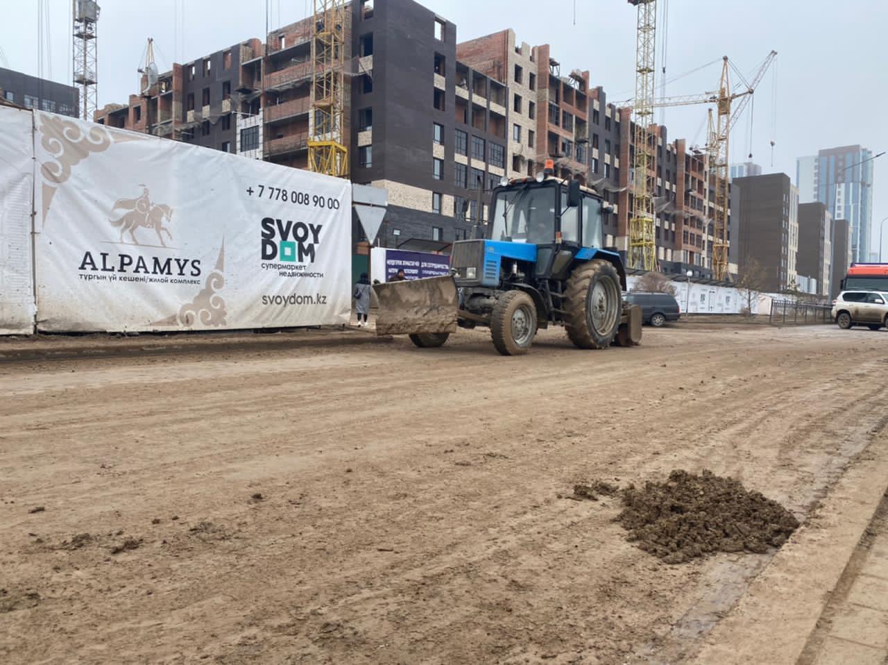Работы на нескольких стройках приостановлены в Нур-Султане