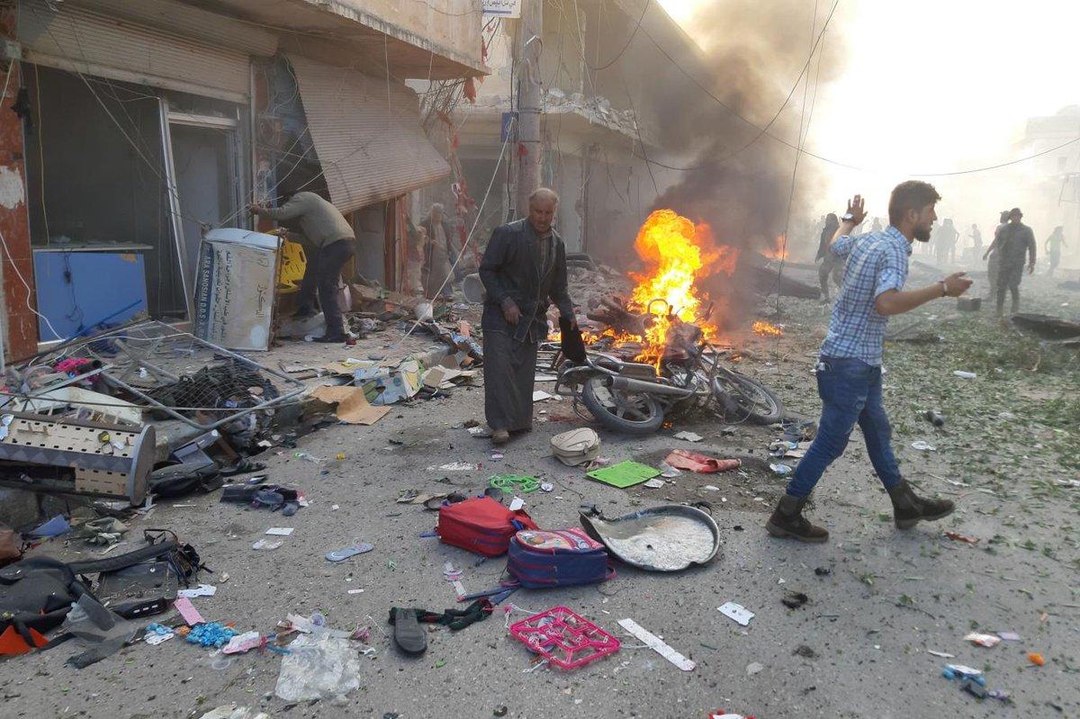На рынке в Сирии произошел взрыв