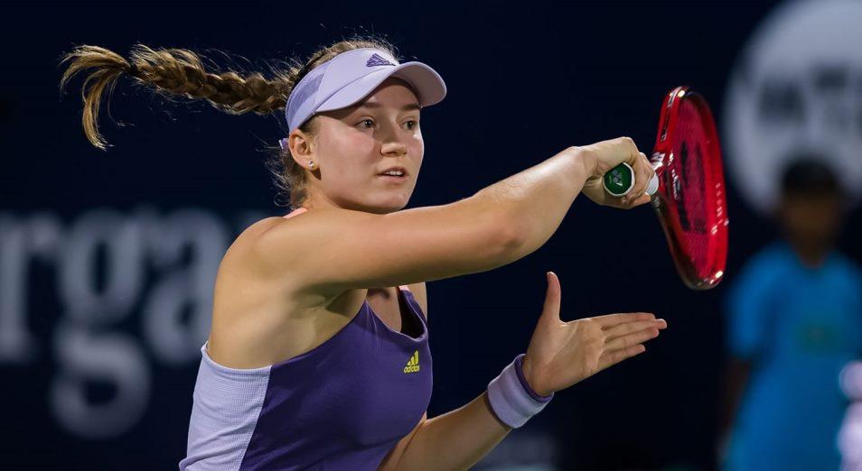 Рыбакина зачехлилась на Abu Dhabi WTA Women's Tennis Open