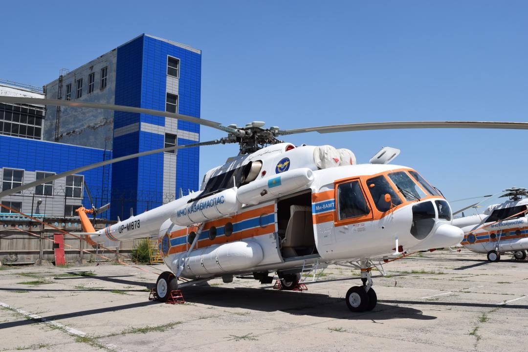 Авиапарк МЧС Казахстана пополнился новыми вертолетами