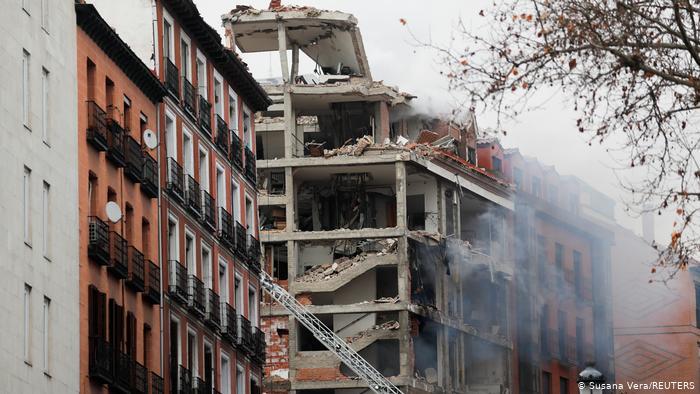 Не менее двух человек погибли при взрыве в Мадриде